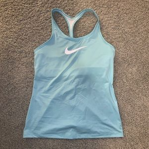 Nike Dri Fit workout tank with built in sports bra